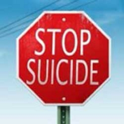 """stop suicide"" red stop sign"